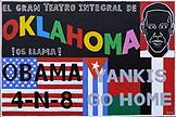 Manolo Quejido. Por aquí pasa 3 (El Gran Teatro) 2008. 130 x 195. Acrílico sobre lienzo