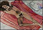 SYLVIA SLEIGH. Paul Rosano Reclining (Paul Rosano recostado), 1974. Óleo sobre lienzo. 137,2 x 198,1 cm. © The Estate of Sylvia Sleigh
