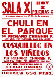 The Richard Channin Foundation. Cartel Sala X, 2001. Xilografía. 85 x 35 cm c/u
