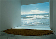 AGNÈS VARDA. Bord de Mer [The Seaside], 2009. Projected photograph, video 1', sand, 3,6 x 4,8 m