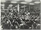 """Acción  – """"Kunst und Revolution"""" (Arte y Revolución), 7 Junio 1968, Universidad de Viena"""