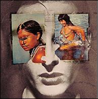 ANNA BELLA GEIGER.  Historia de Brasil. Niñas y niños. Fotomontaje (6). Varias medidas. Colección de la artista