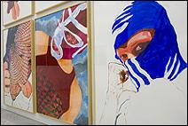ÁNGELES AGRELA. S/T (Untitled), 2003-2005. 6 pinturas acrílicas sobre papel, 200 x 150 cm. c/u.