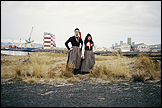 LIBIA CASTRO & ÓLAFUR ÓLAFSSON. Untitled (Portrait of the artists wearing the Icelandic women's costume; Peysuföt and Upphlutur)