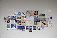 ALEKSANDRA MIR. Plane Landing, collages (composition # 3), 2004