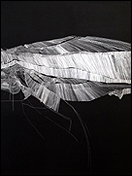 RUTH MORÁN. Psychographies, 2012. Papel, temple vinílico y rotulador de tinta, 200 x 152 cm