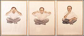 CURRO GONZÁLEZ. Autorretrato del artista como artista I, II y III, 1992