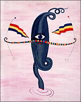 Rafael Agredano. Miss Marte, 1986. Acrílico sobre lienzo, 92 x 73,4 x 1,8 cm.