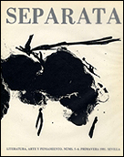 ROBERT MOTHERWELL. Cover of Separata Magazine nº 5-6, spring 1981
