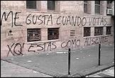 CARLOS MOTTA: Graffitis ideológicos (Ideological Graffiti), 2005-2008, 20 inkjet prints, 35.56 x 27.94 cm. (each). Courtesy of the artist