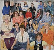 SYLVIA SLEIGH. A.I.R. Group Portrait, 1977 - 78. 193 x 208,2 cm. © The Estate of Sylvia Sleigh