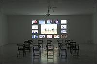 AGNÈS VARDA. Les Veuves de Noirmoutier [The Widows of Noirmoutier], 2005. Installation, projected film. Photo: Guillermo Mendo